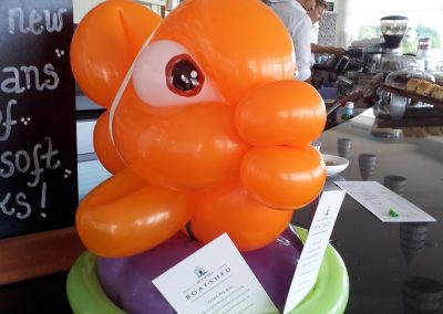 Balloon fish at the Boatshed