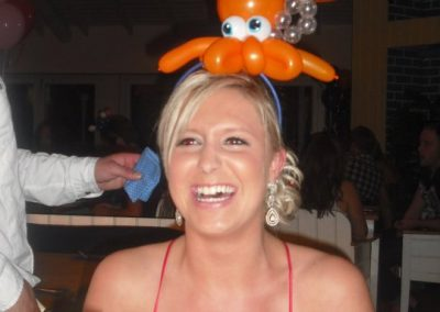 There's a balloon octopus on my head!